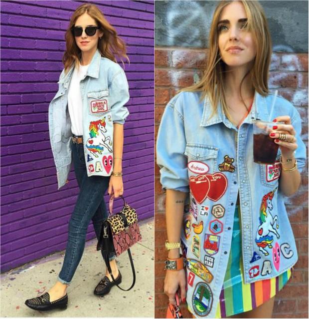 A fashionista Chiara Ferragni mostra como usar roupa com patche sem perder o estilo  (Foto: Reprodução do Instagram)