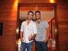 Rodrigo Phavanello e Gustavo Salyer se encontram no Rio