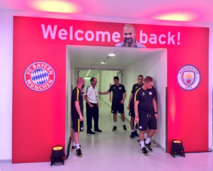 """BLOG: Bayern de Munique faz saudação para o """"retorno"""" do técnico Pep Guardiola"""