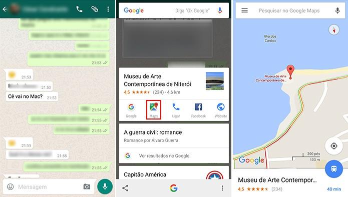 Google Now a um toque pode ajudar a achar caminho para um local (Foto: Reprodução/Elson de Souza)