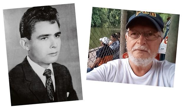 Em preto e branco, Alécio, o pai biológico. À direita, Marco, o pai adotivo  (Foto: Arquivo Pessoal)