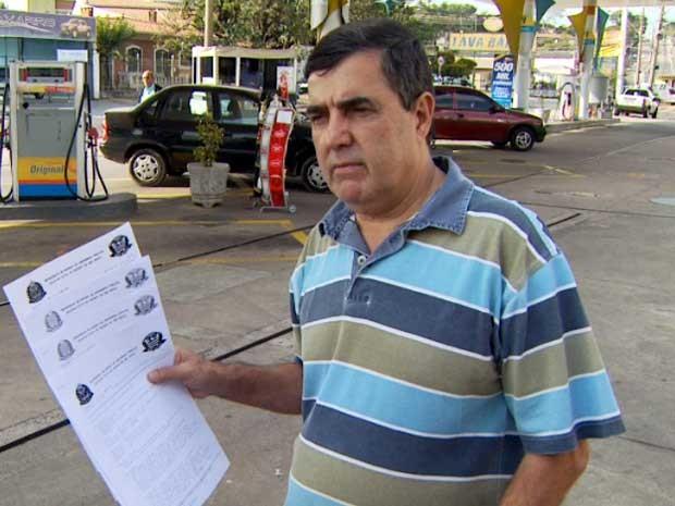 O administrador de posto de combustíveis Nelson De Cicco, em Campinas (Foto: Reprodução EPTV)
