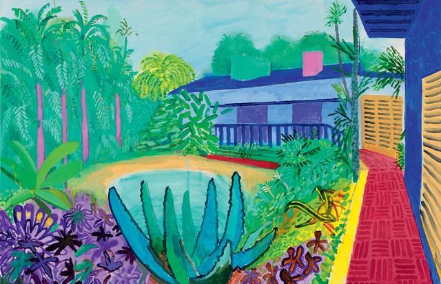 Garden (2015) (Foto: © David Hockney , Richard Schmidt, Coleção Walker Art Gallery, Divulgação/Tate Britain)