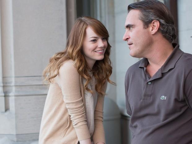 Emma Stone e Joaquin Phoenix em 'O homem irracional', de Woody Allen (Foto: Divulgação)