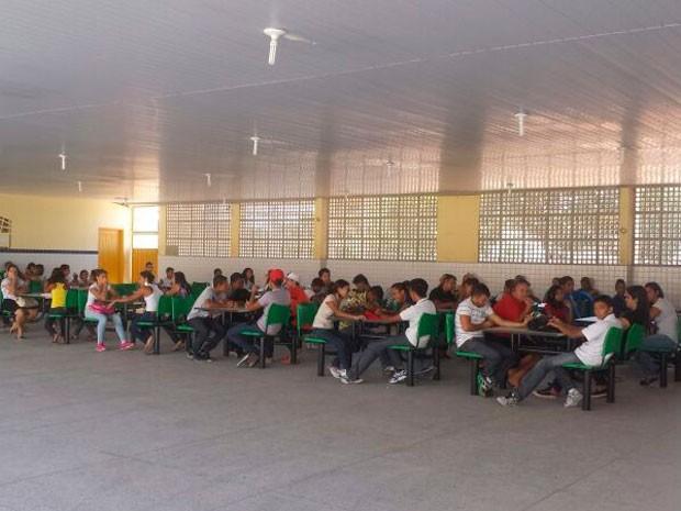 Alunos não tiveram aula na tarde desta terça-feira (28) em Natal (Foto: Heloisa Guimarães/Inter TV Cabugi)