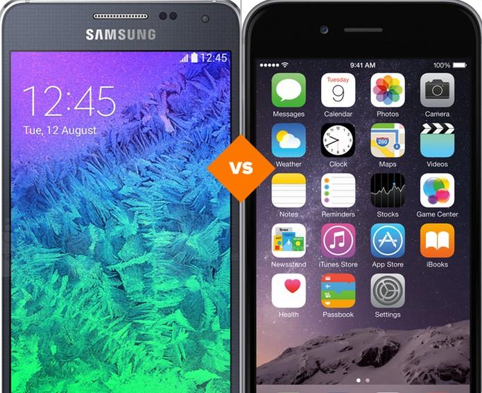 Galaxy Alpha ou iPhone 6? Veja qual é o melhor smart (Foto: Arte/TechTudo)