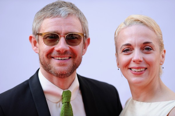 O ator Martin Freeman e a atriz Amanda Abbington (Foto: Getty Images)