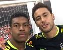 """Atacante do São Paulo ouve dicas de Willian, Thiago Silva e """"tieta"""" Neymar"""