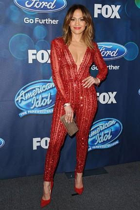 Jennifer Lopez em festa em Los Angeles, nos Estados Unidos (Foto: Jason LaVeris/ Getty Images)