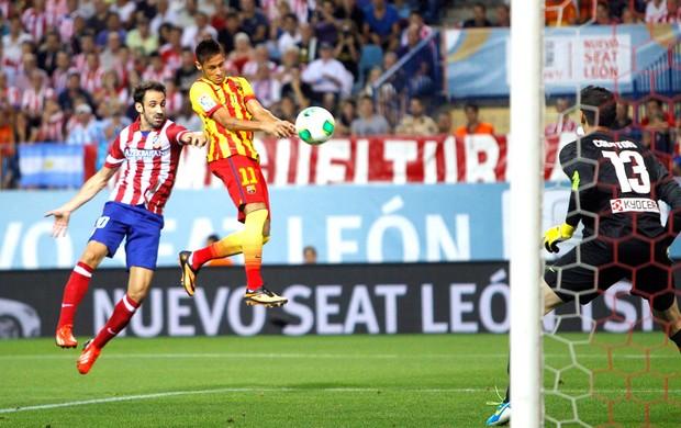 Neymar gol Barcelona contra o Atlético de Madri (Foto: Agência AP)