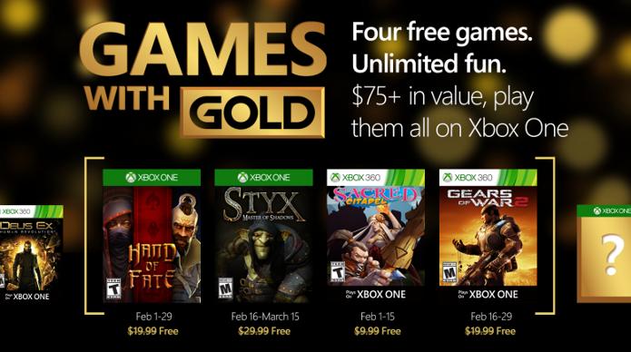 Styx e Gears of War 2 são alguns dos games de fevereiro da Games With Gold (Foto: Reprodução/majornelson.com)