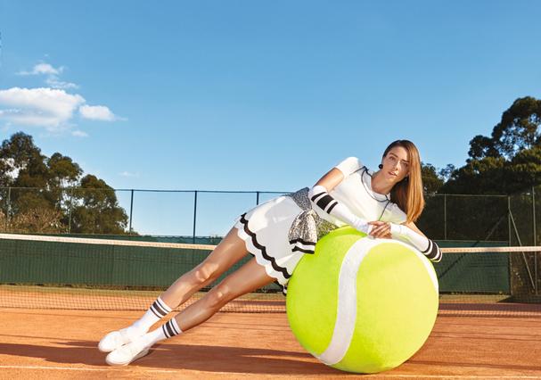 A tenista fashion (Foto: Marcelo Krasilcic)