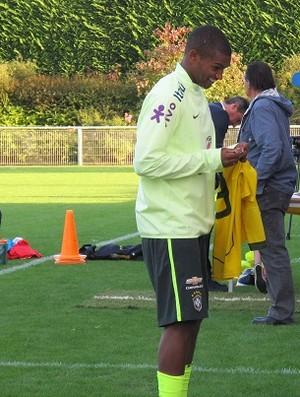 Marlon e Kenedy são poupados de treino da seleção olímpica (Foto: Felipe Schmidt)