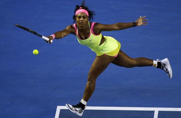 Serena Williams na final do Aberto da Austrália (Foto: AP Photo/Lee Jin-man)