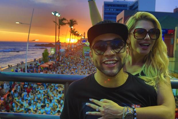 Antônia Fontenelle e Jonathan Costa em Salvador (Foto: Fred Pontes - Divulgação)