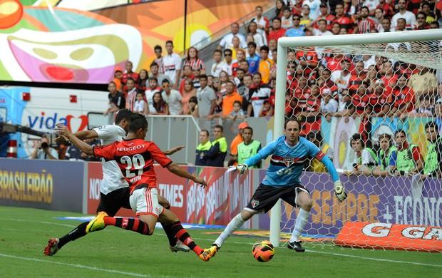 Nixon Flamengo x São Paulo (Foto: Alexandre Vidal / Flaimagem)