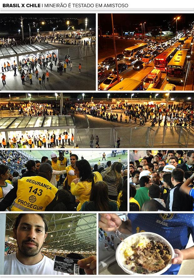 mosaico Mineirão evento-teste Brasil x Chile (Foto: Editoria de Arte / Globoesporte.com)