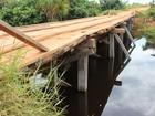 Sem manutenção, ponte da Zona Rural preocupa moradores de RO