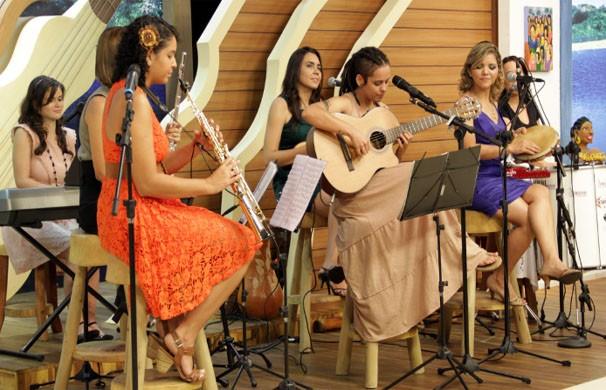 Grupo Bionne, é composto por 7 mulheres que fazem samba e choro da melhor qualidade (Foto: TVCA)