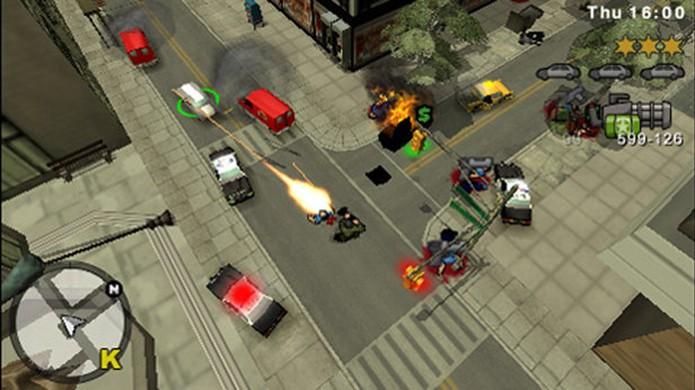 GTA Chinatown Wars voltou à visão aérea nos portáteis (Foto: Divulgação/PlayStation)