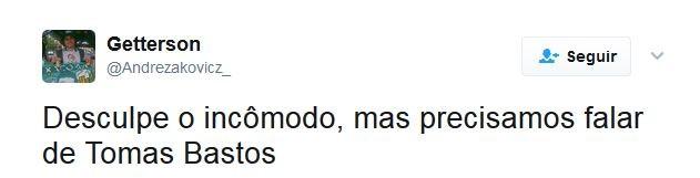 Tomas Bastos Twitter Cartola (Foto: Reprodução)