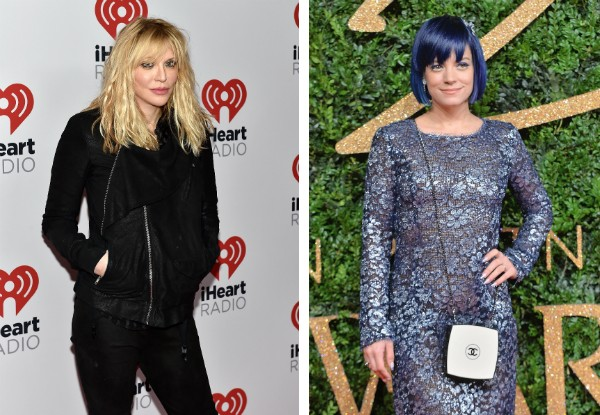 As cantoras Courtney Love e Lilly Allen (Foto: Getty Images)