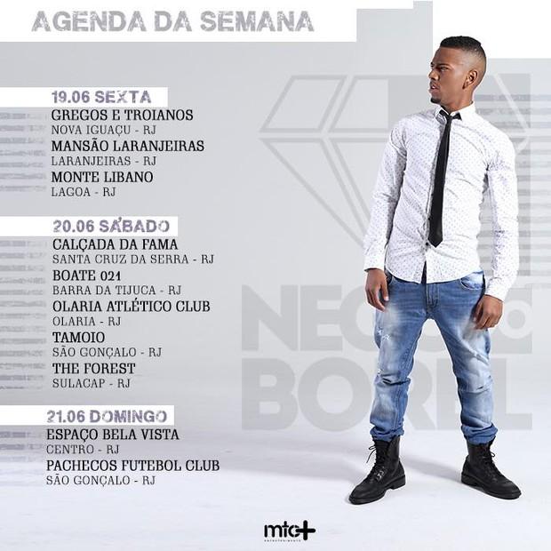 Nego Do Borel - agenda (Foto: reprodução/Facebook)