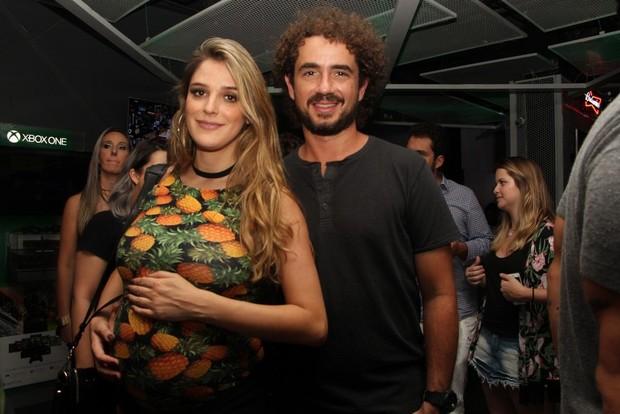 Rafa Brites e Felipe Andreoli  em show em São Paulo (Foto: Renan Katayama/ Ag. News)