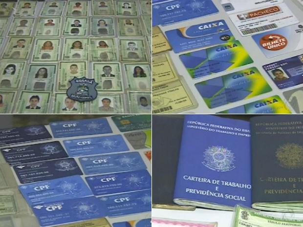 Documentos e cartões foram levados para a Delegacia de Polícia Civil de Foz do Iguaçu (Foto: Reprodução/RPCTV)