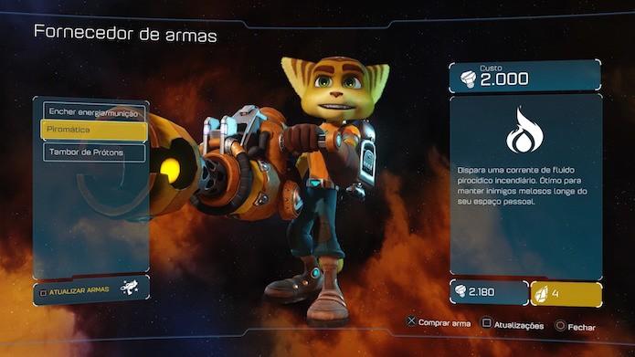 Ratchet & Clank também se destaca pela grande variedade de armas (Foto: Reprodução/Victor Teixeira)