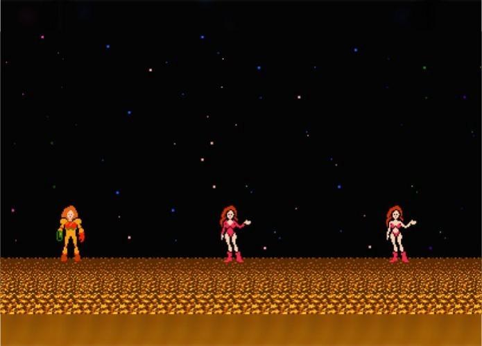 Metroid: dependendo do desempenho do jogador, Samus aparecia com menos roupa no final do jogo (Foto: Reprodução/Paulo Vasconcellos)