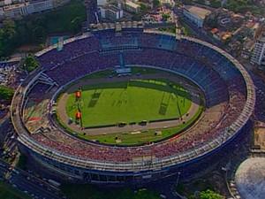 Antiga Arena Fonte Nova, demolida para dar lugar à Arena (Foto: Arquivo/TV Bahia)