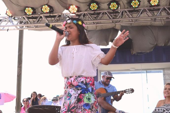 mistura com rodaika the voice kids capão da canoa arena de verão rbs tv (Foto: Antonio Carlos De Marchi/RBS TV)