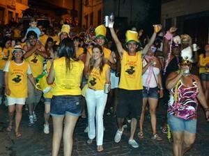 Carnaval 2014 Maestro Hervê Cordovil é tema do bloco Vem Quem Quer em Viçosa (Foto: Francisco de Castro/Arquivo pessoal)