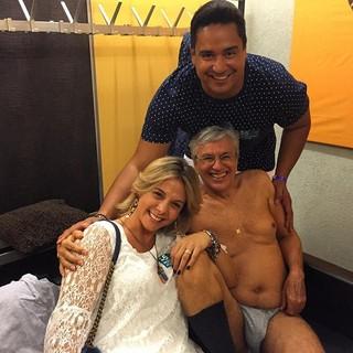 Carla Perez, Xandy e Caetano Veloso (Foto: Reprodução/Instagram)