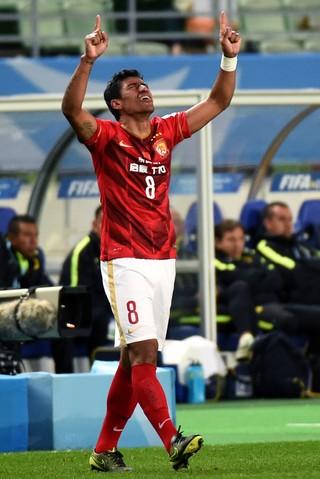 Paulinho Guangzhou Evergrande América do México Mundial (Foto: Getty Images)
