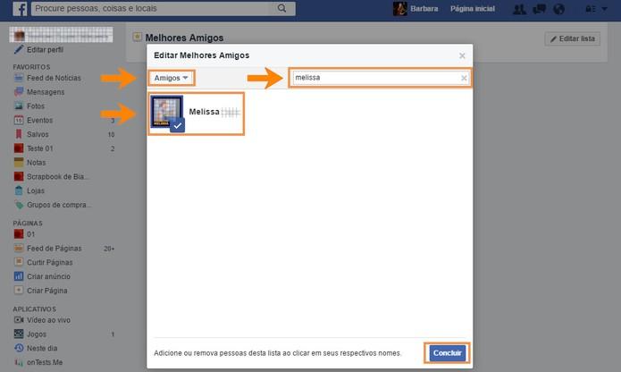 Adicione seus contatos na lista de melhores amigos do Facebook (Foto: Reprodução/Barbara Mannara) (Foto: Adicione seus contatos na lista de melhores amigos do Facebook (Foto: Reprodução/Barbara Mannara))