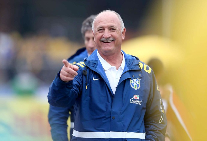 Felipão Scolari amistoso Brasil x Sérvia (Foto: Marcos Ribolli / Globoesporte.com)