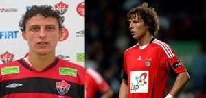 David Luiz antes e depois dos cachos (Foto: Blog Futebol Nordestino/GloboEsporte.com)