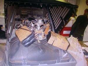 Droga apreendida em Garanhuns, Agreste de Pernambuco, era transportada em caminhão (Foto: Divulgação/ Polícia Federal)