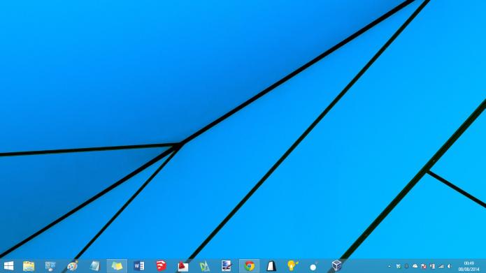 Abra a área de trabalho clássica do Windows 8 (Foto: Reprodução/Helito Bijora)