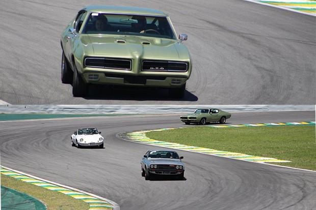 """No """"S"""" do Senna, Puma Gtb S2, Puma VW e o possante Pontiac GTO, foi o primeiro """"muscle car"""" americano. (Foto: Divulgação/Edison Guerra Sr)"""