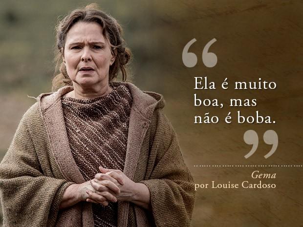 Card Gema - Louise Cardoso (Foto: Fábio Rocha/Gshow)