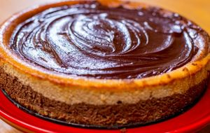 Como fazer cheesecake de chocolate com manteiga de amendoim