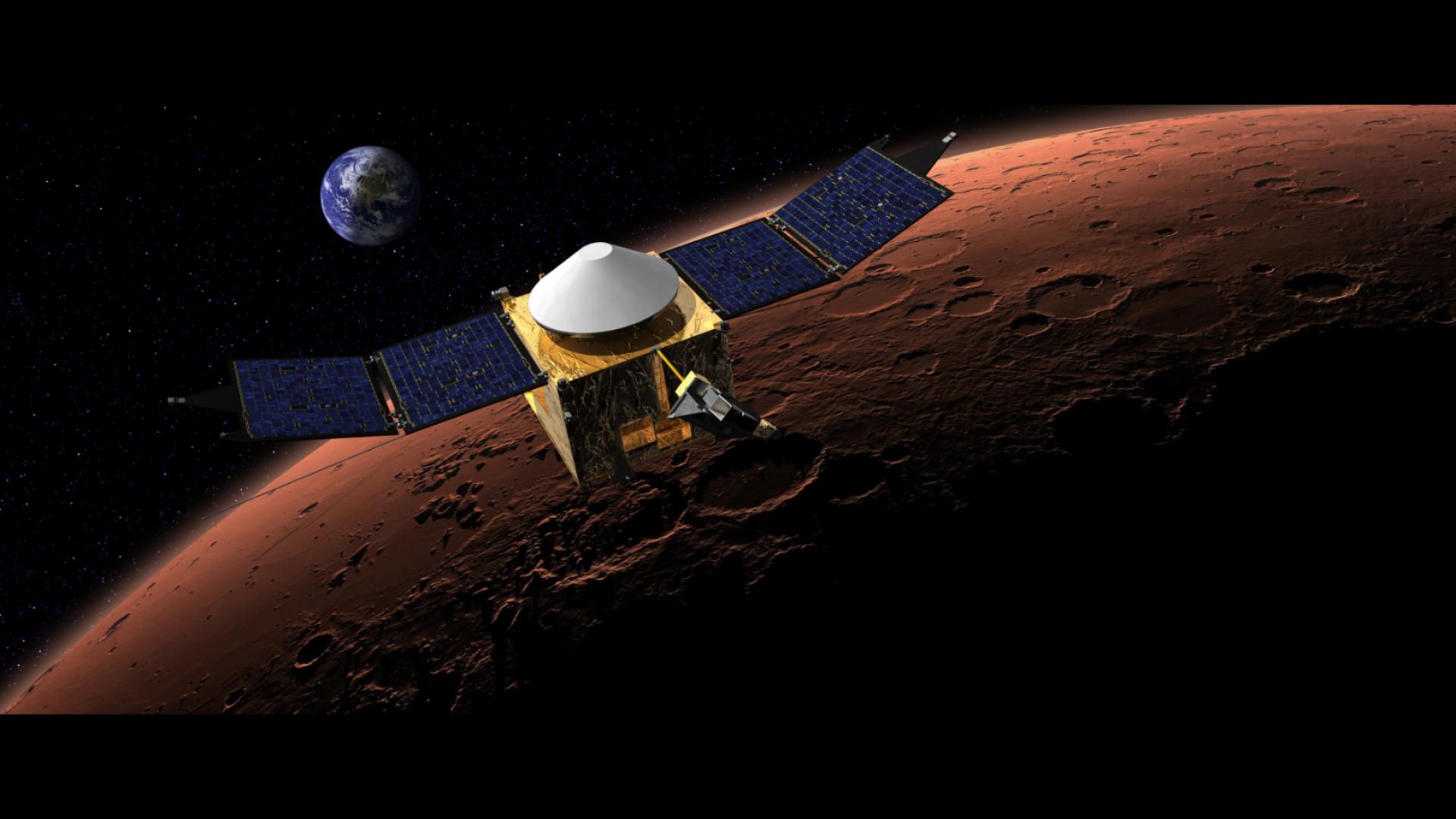 Sonda que estudará atmosfera de Marte entra na órbita do planeta