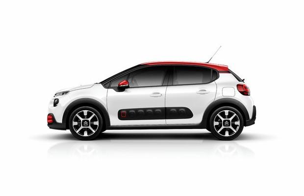 Laterais do novo Citroën C3 investem nos Airbumps, proteções plásticas contra batidinhas (Foto: Divulgação)