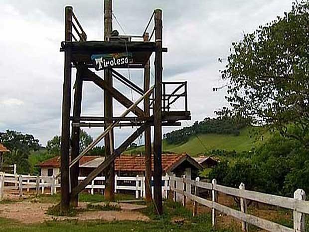 Maiza Tavares morreu ao cair de tirolesa instalada em sítio de turismo (Foto: Reprodução EPTV)
