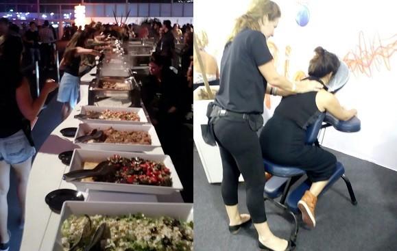 Bufês e massagistas estão à disposição dos convidados (Foto: Acyr Mera Junior/ ÉPOCA)