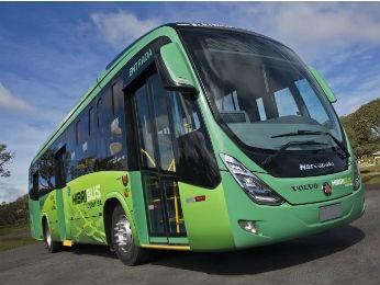 Ônibus híbrido da Volvo (Foto: Ito Cornelsen/ Divulgação Volvo)