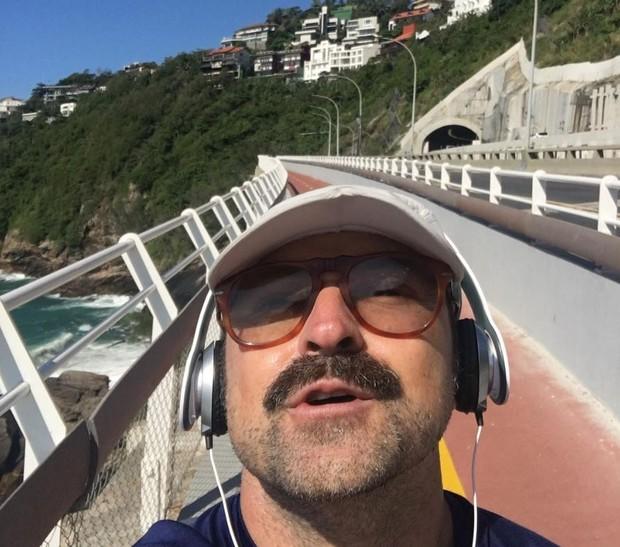 Emílio Orciollo Netto na ciclovia Tim Maia (Foto: Reprodução/Instagram)